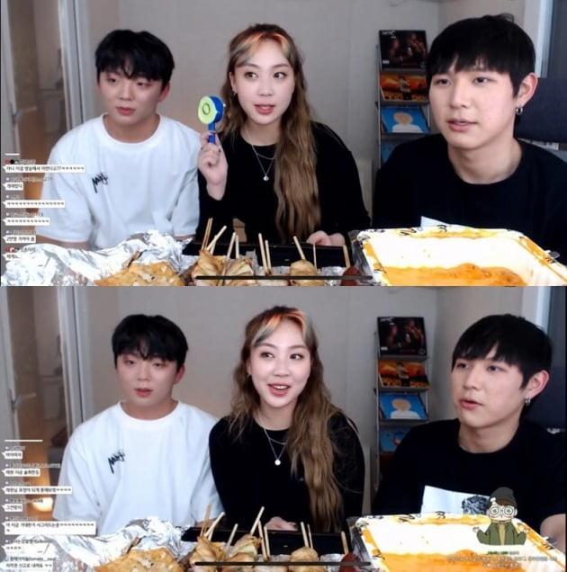 래퍼 래원(왼쪽부터), 이영지, 유튜버 꽈뚜룹/ 사진=유튜브 캡처
