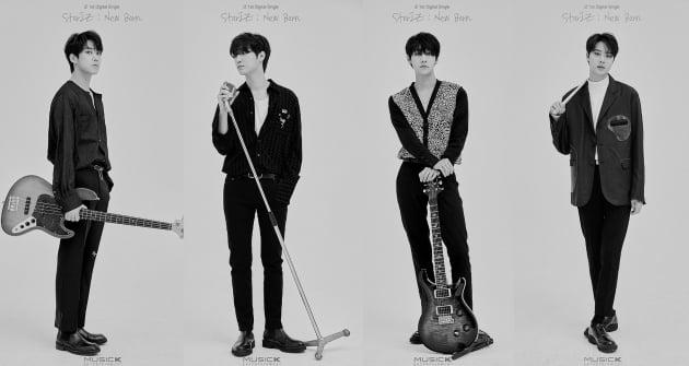 밴드 아이즈(왼쪽부터 준영 지후 현준 우수) / 사진제공=뮤직K엔터테인먼트