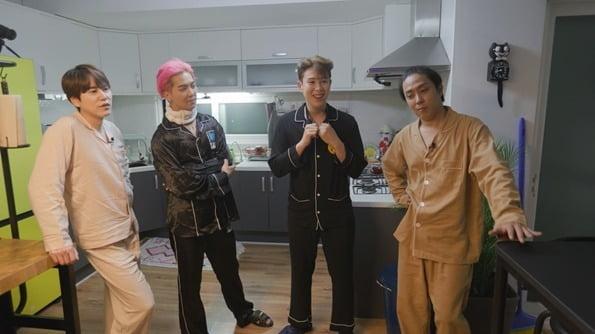 '언제까지 어깨춤을 추게 할 거야' 속 신서유기 멤버들/ 사진=tvN 제공