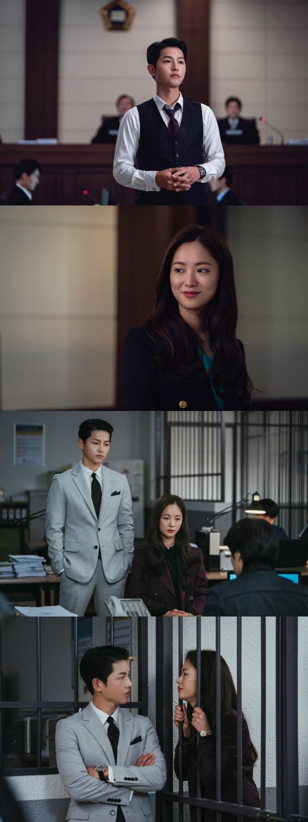'빈센조' 송중기X전여빈, 플랜B 가동 /사진=tvN 제공