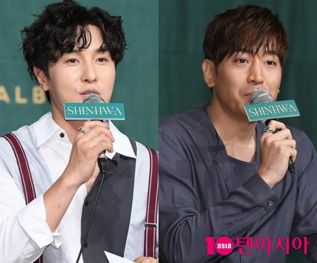 그룹 신화의 김동완(왼쪽), 에릭 / 사진=텐아시아DB