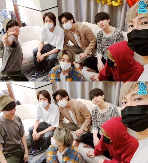 /사진=방탄소년단 공식 V라이브 채널
