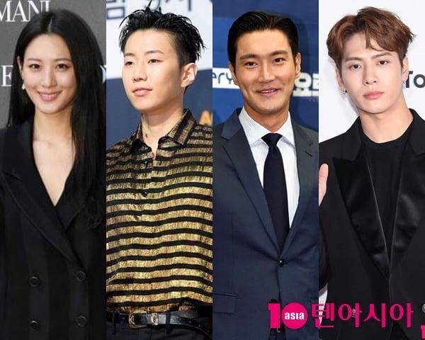 배우 수현-가수 박재범-슈퍼주니어 시원-잭슨(왼쪽부터)/사진 = 텐아시아 사진DB