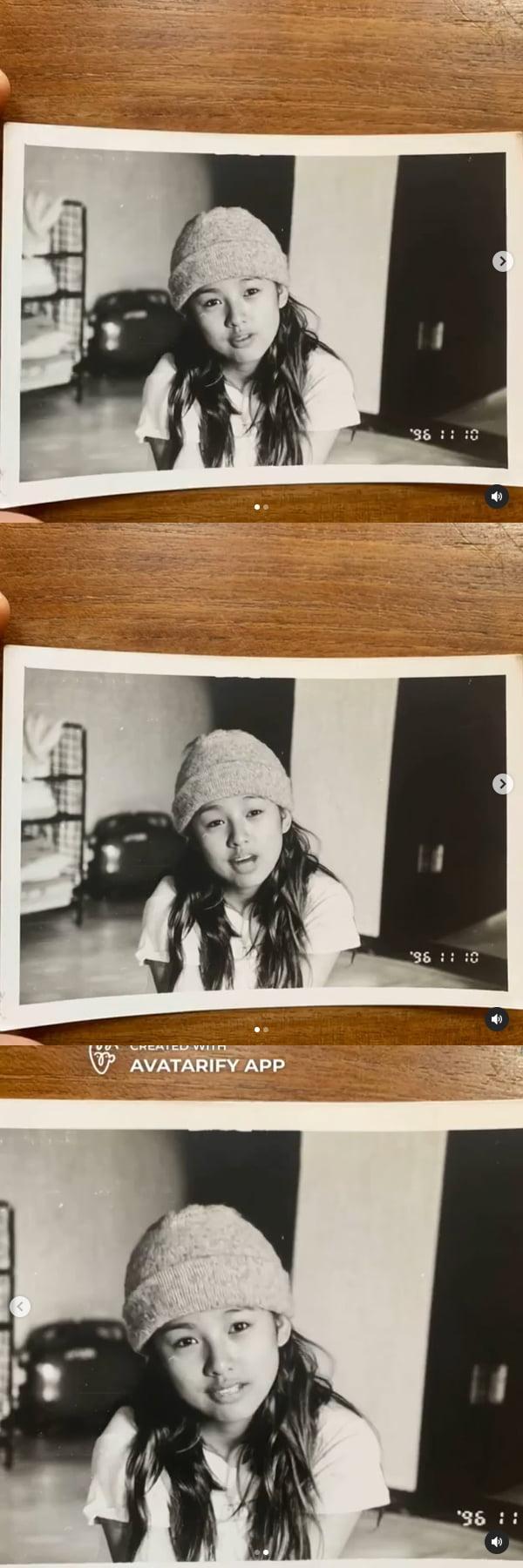 이상순이 공개한 1996년의 이효리…딸 낳으면 이런 모습?