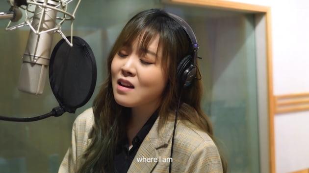 가수 이예준의 '펜트하우스2' OST 녹음 현장/ 사진=SBS 제공