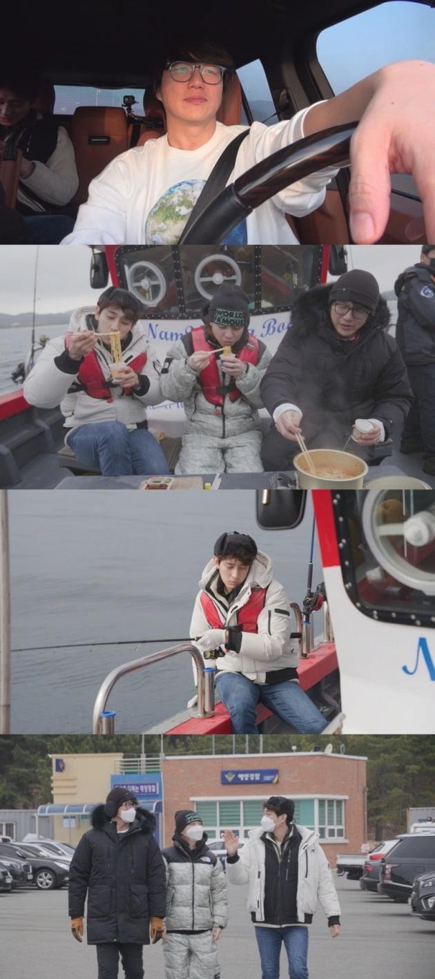 '온앤오프' 성시경·윤박·넉살이 대구 낚시에 도전한다. / 사진제공=tvN