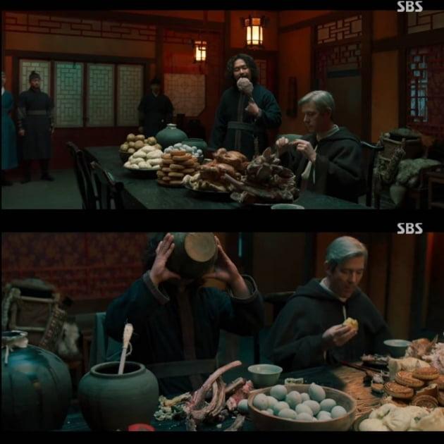 '조선구마사' 1회 등장한 문제의 장면/ 사진=SBS 캡처
