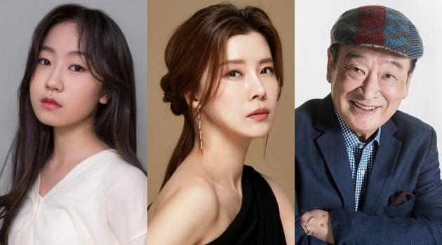 김환희(왼쪽부터), 유선, 이순재가 영화 '안녕하세요'에 출연한다. / 사진제공=나무엑터스, 블레스이엔티, SG_way ent