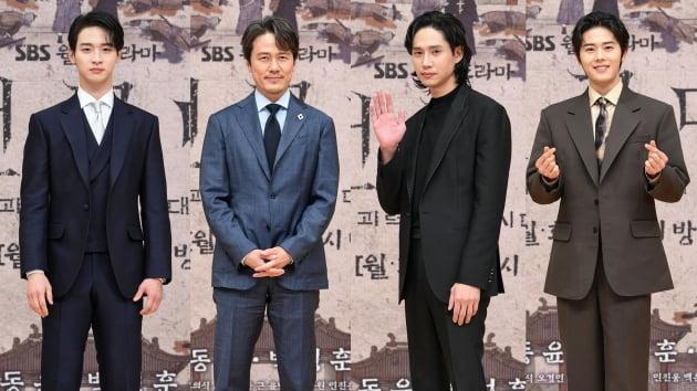 '조선구마사' 출연 배우 장동윤, 감우성, 박성훈, 김동준./ 사진제공=SBS