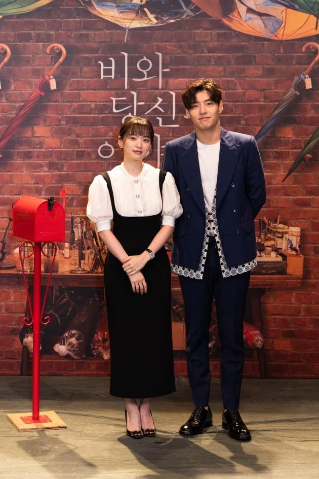 배우 천우희, 강하늘이 31일 열린 영화 '비와 당신의 이야기' 온라인 제작보고회에 참석했다. / 사진제공=키다리이엔티, 소니 픽쳐스