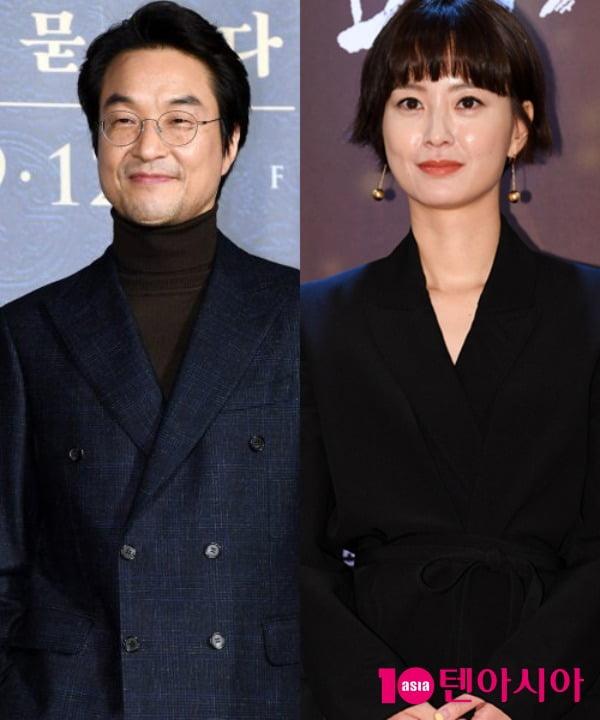 '아침이 밝아올 때까지'에 출연하는 배우 한석규, 정유미 / 사진=텐아시아DB