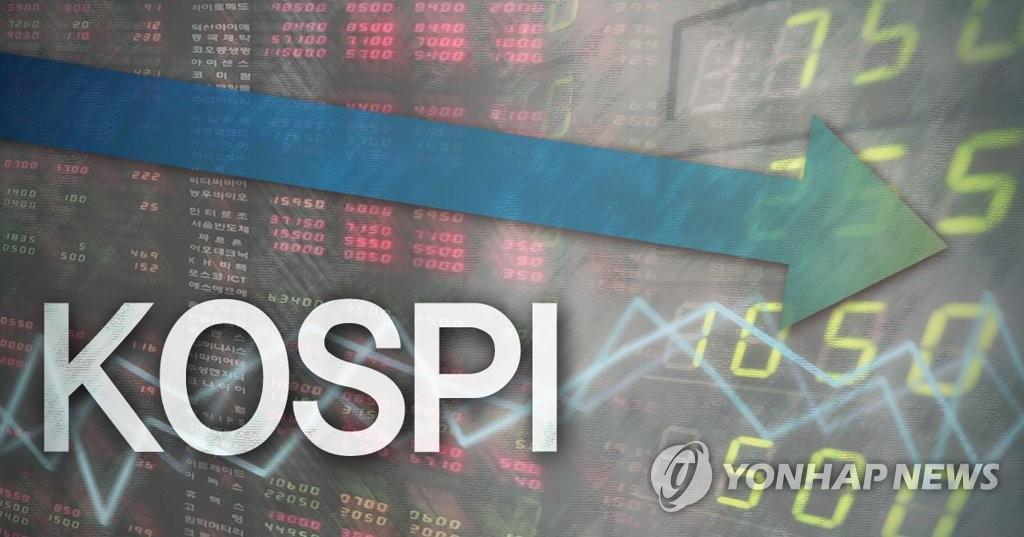 코스피 기관 매도에 사흘만에 하락…3,030대 마감(종합)