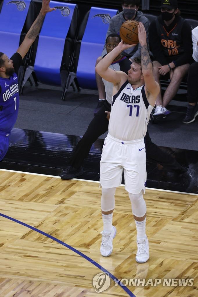 NBA 댈러스, 올랜도 잡고 PO 진출 마지노선 8위 바짝 추격