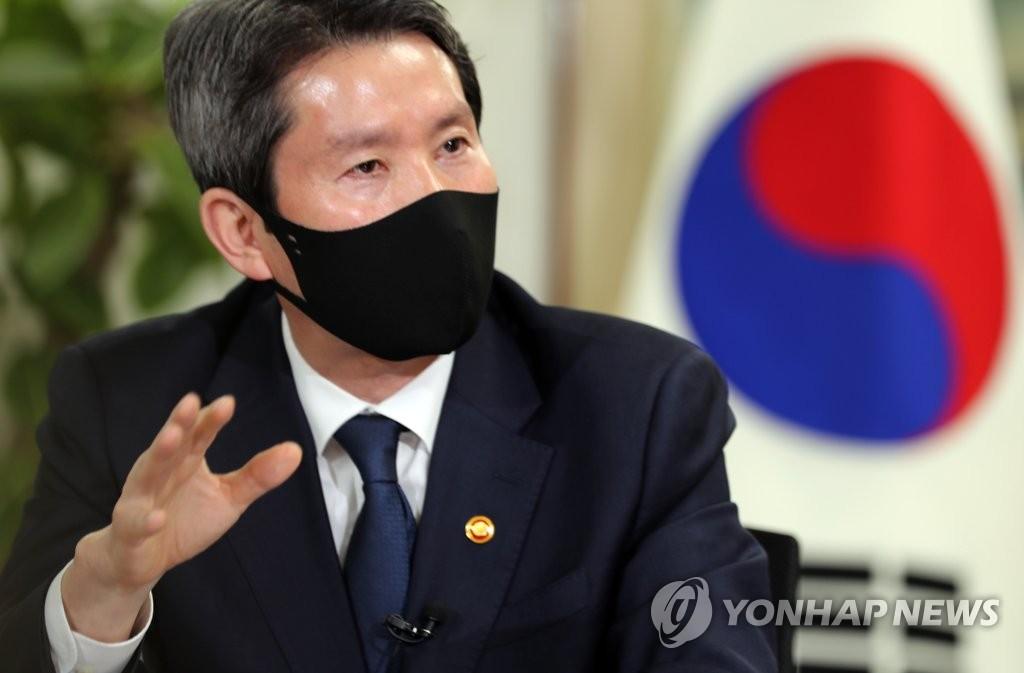 """이인영 """"북 유연하게 호응한다면 제재 유연화 확대될 수도"""""""