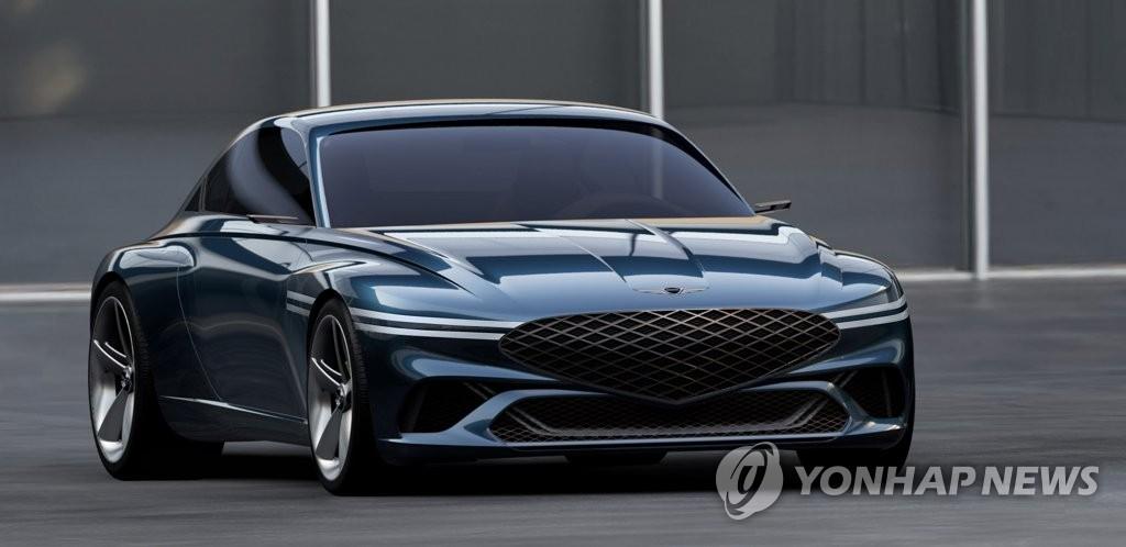 제네시스, 전기차 기반 GT 콘셉트카 '제네시스 엑스' 선보여