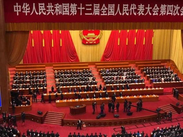 중국 최고 입법기관인 전국인민대표대회(전인대) 연례회의가 베이징 인민대회당에서 열렸다. / 사진=연합뉴스