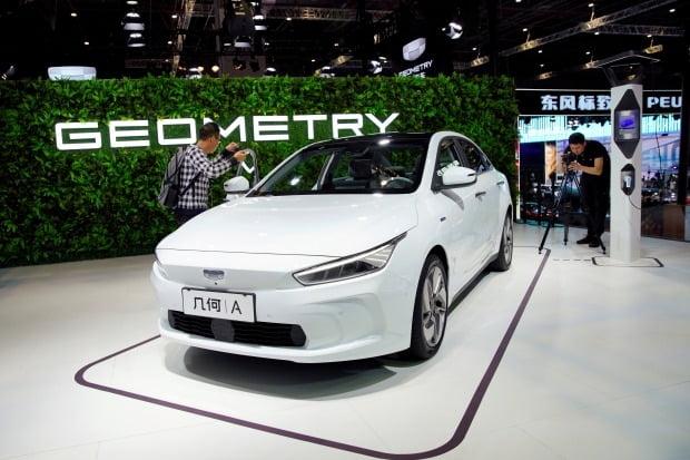 중국 최대 민영 완성차업에인 지리자동차의 신형 전기차 '지오메트리'.  사진=REUTERS