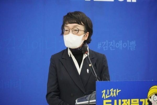 김진애 열린민주당 서울시장 후보가 지난달 25일 서울 여의도 구고히에서 기자간담회를 하고 있다. /사진=뉴스1