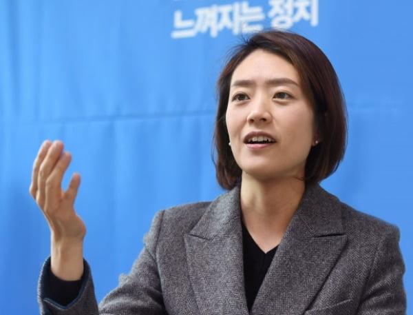 고민정 더불어민주당 의원. /사진=신경훈 기자 khshin@hankyung.com