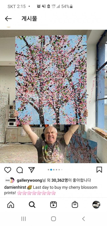 영국 현대미술의 거장 데미언 허스트는 자신의 작품 1만 점을 NFT 등 무형으로 세상에 내놓을 계획이다. 이에 앞서 허스트는 벚꽃을 그린 판화 8종을 온라인으로 판매하면서 비트코인, 이더리움 등 암호화폐를 결제 수단으로 도입했다./데미언 허스트 트위터