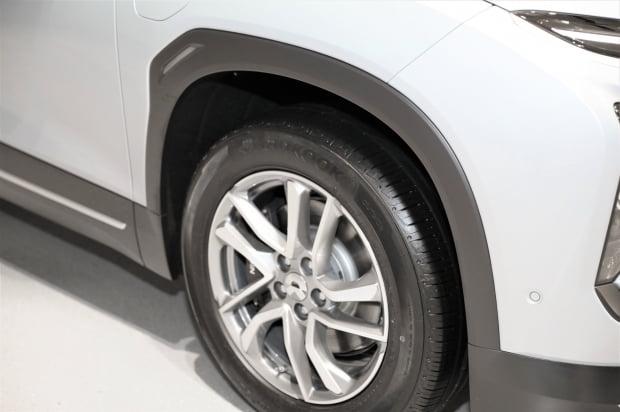 한국타이어가 중국 전기차 업체 니오 SUV ES6에 신차용타이어를 공급한다./ 사진=한국타이어