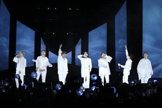 그룹 방탄소년단 뉴욕 스타디움 공연 당시의 모습. /사진=하이브 제공