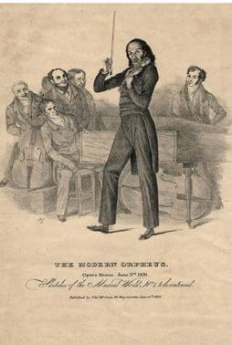 파가니니의 연주회를 알리는 포스터. (1831)