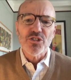 미국 뉴욕 월스트리트의 투자 전문가인 프레드릭 캐넌 KBW 수석주식전략가 겸 부사장은 최근 뉴욕 외신기자들과 화상 간담회를 가졌다. 줌 캡처