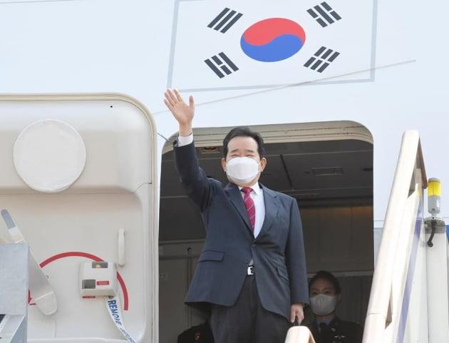 정 총리, 이란 방문 위해 출국…이란 부통령과 회담
