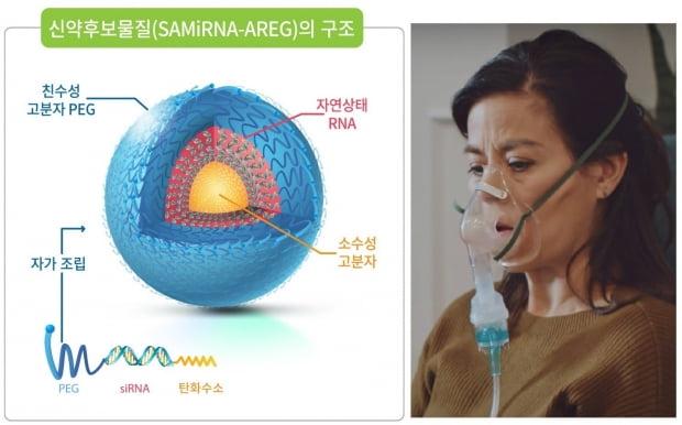 SAMiRNA-AREG 구조와 미국폐협회(ALA)의 네뷸라이저 사용법 동영상 캡처. 제공=바이오니아