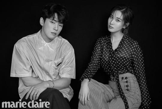 MBC '시간' 홍보를 위해 촬영한 커플 화보/사진=패션 매거진 마리끌레르