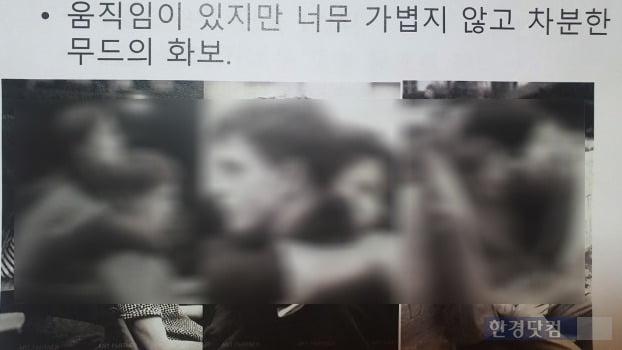/사진=한경닷컴이 입수한 커플 화보 촬영 전에 전달된 시안