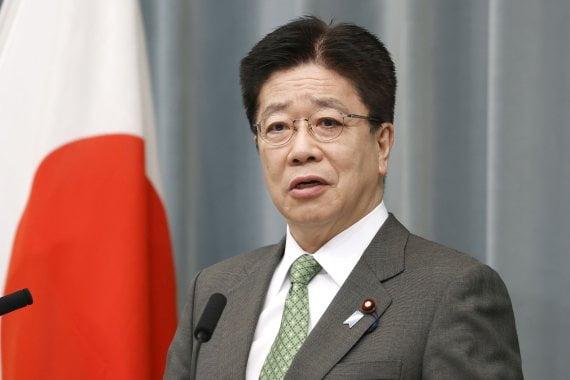 가토 가쓰노부 일본 관방장관/사진=AP