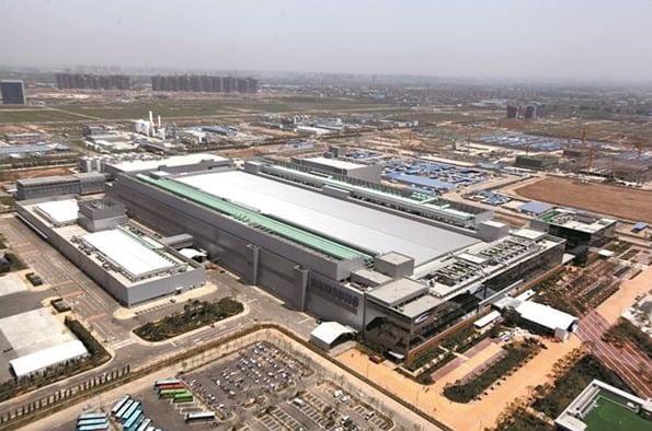 삼성전자 중국 시안 반도체 공장 전경. 사진=삼성전자
