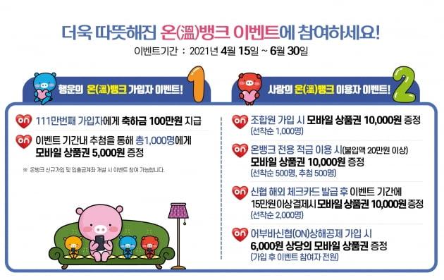 신협, 모바일 앱 온뱅크 가입자 100만 기원 이벤트