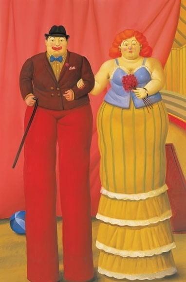 페르난도 보테로의 '죽마를 탄 광대들'(2007).