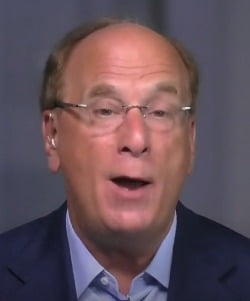 래리 핑크 블랙록 회장 겸 최고경영자(CEO)가 15일(현지시간) CNBC와 인터뷰하고 있다. CNBC 캡처