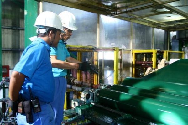 미얀마포스코강판 공장의 조업 장면. 사진=연합뉴스