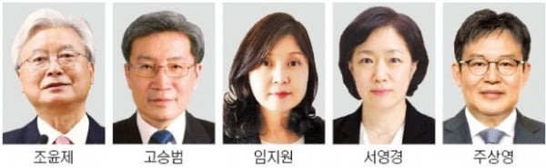 조윤제·고승범·임지원 '매파'…서영경·주상영 '비둘기파'