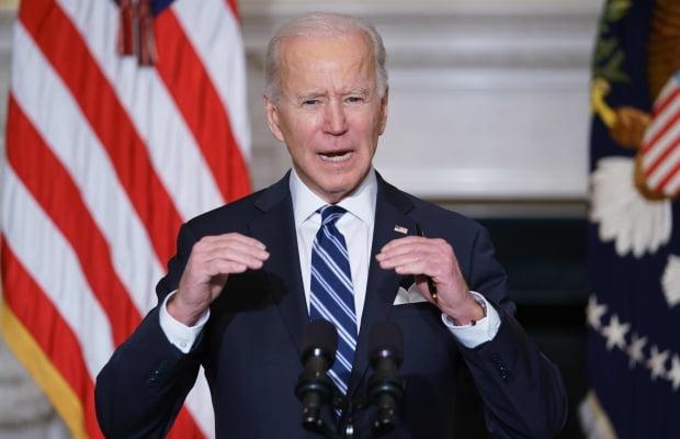 조 바이든 미국 대통령이 1월 27일(현지시간) 워싱턴DC 백악관에서 '기후변화 대응' 행정명령에 서명하기 전 연설하고 있다. 사진=AFP 연합뉴스