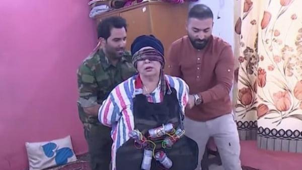 선넘는 몰카에 당한 이라크 유명 여배우 네스마/사진=온라인 커뮤니티