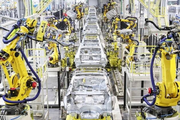 헝다차가 공개한 전기차 생산라인