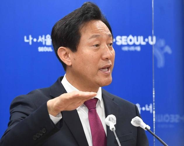 """[포토] 오세훈 """"광화문광장 공사 중단없이 추진"""""""