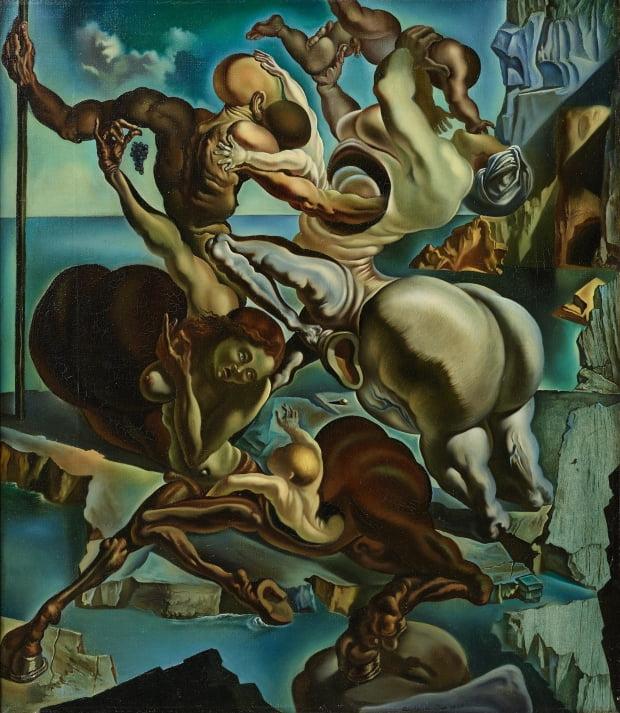 달리의 '켄타우로스 가족'(1940). 초현실주의 거장인 달리는 이 그림에서 정교한 테크닉과 균형감 있는 구도를 통해 고전주의 양식으로의 회귀를 꾀했다.