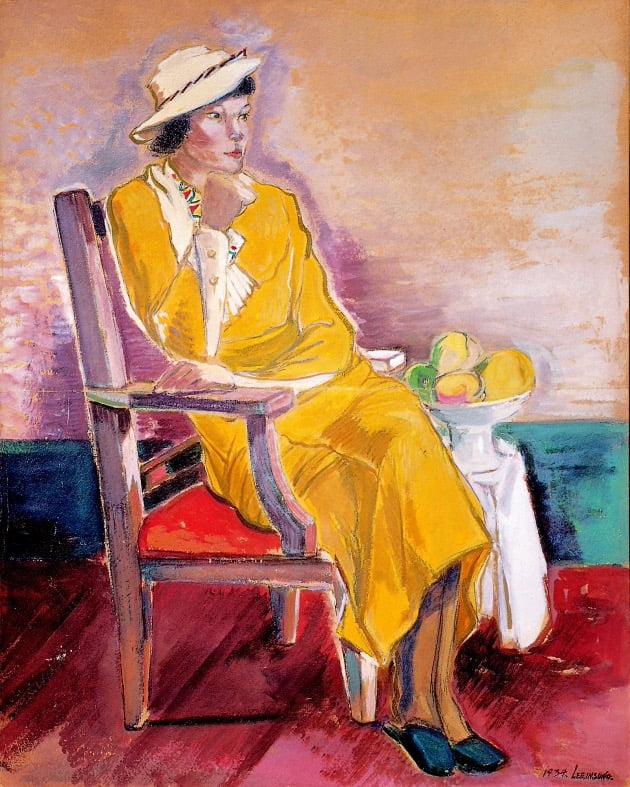 이인성 '노란 옷을 입은 여인상'