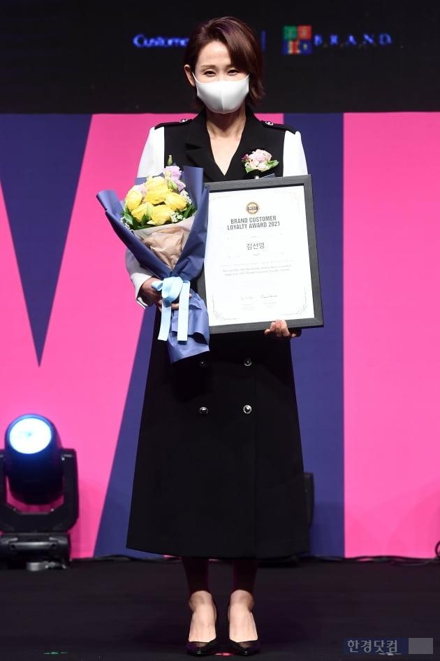 [포토] 김선영, '마스크로 가려도 느껴지는 분위기'