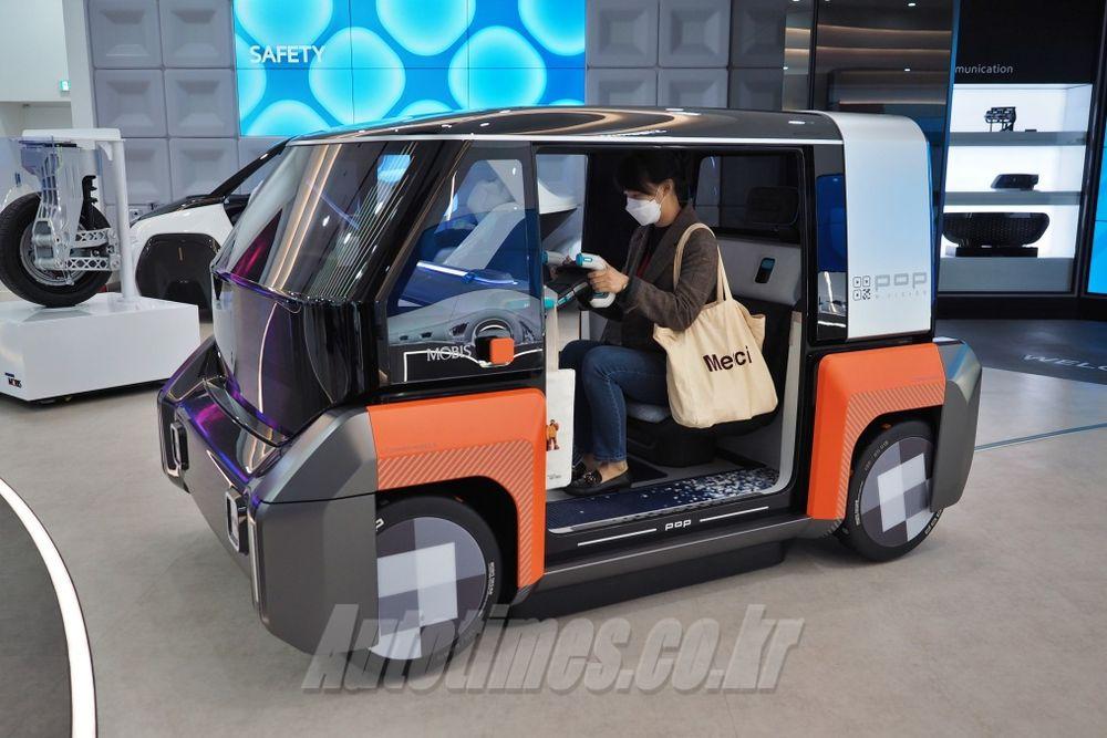 현대차와는 다른 결, 모비스 초소형 전기차 '엠비전 팝'
