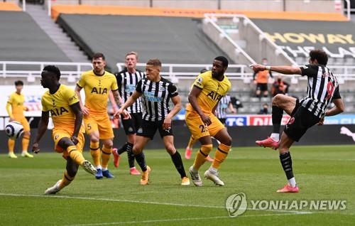 '손흥민 복귀-케인 2골' 토트넘, 뉴캐슬과 2-2 무… 5위 안착