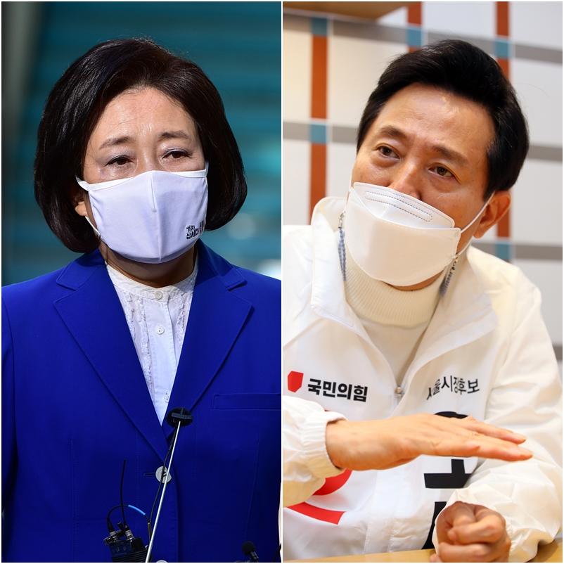KBO, 박영선·오세훈 서울시장 후보에 야구 인프라 개선 요청