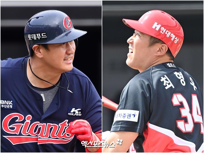 [야구전광판] 이대호-최형우 시즌 첫 홈런, 롯데-KIA 시즌 첫 승